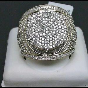 10k iced ring